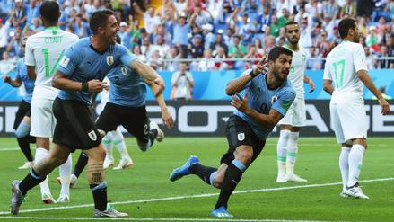 Uruguay venció 1-0 a Arabia Saudita con gol de Suárez y se clasificó a octavos de final