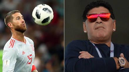Sergio Ramos minimizó a Maradona y calificó a Messi como el mejor argentino