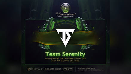 Dota 2: Team Serenity es el primer clasificado para The International 2018