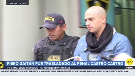 Piero Gaitán fue trasladado esta tarde al penal Castro Castro