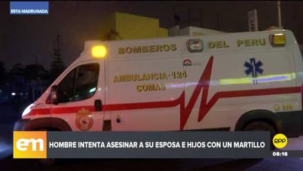 Un hombre atacó a martillazos a su esposa e hijos y, luego, intentó suicidarse