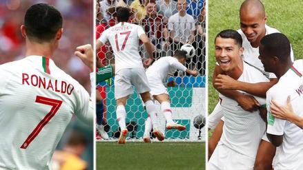 Modo goleador: Cristiano Ronaldo anotó de cabeza ante Marruecos