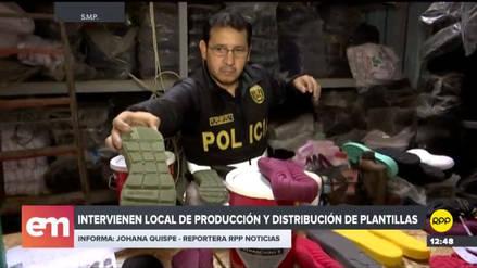 La Policía incautó más de dos millones de plantillas de zapatillas falsificadas