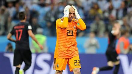 El grosero error de Wilfredo Caballero que acabó en el primer gol de Croacia