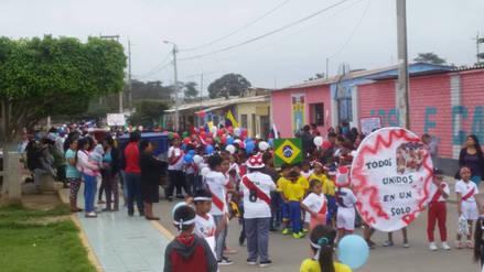 En Batangrande niños salieron a alentar a la selección nacional