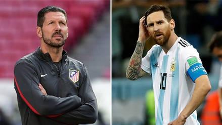 Se filtró audio de Diego Simeone criticando a la Selección de Argentina