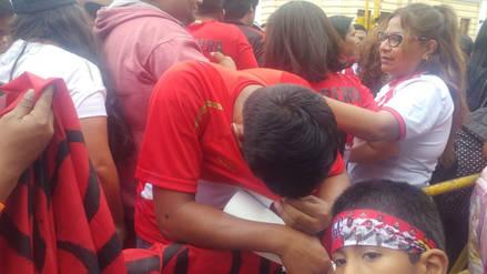 Chiclayo: hinchas lloran tras eliminación de Perú del mundial Rusia 2018