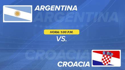 Argentina vs Croacia EN DIRECTO: Canales, goles y alineaciones