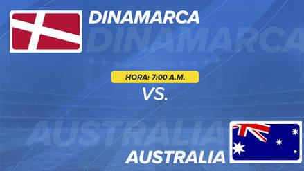 Dinamarca vs Australia EN VIVO EN DIRECTO ONLINE: Canales, goles y minuto a minuto
