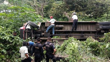 Al menos ocho muertos en accidente de carretera en Guatemala
