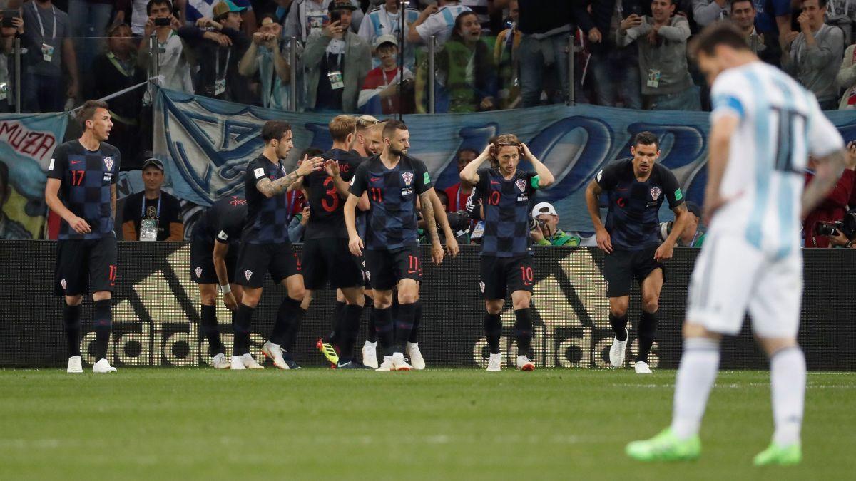 Argentina cayó goleado ante Croacia y está al borde de la eliminación en Rusia 2018