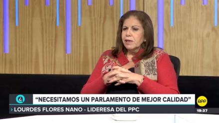 Lourdes Flores consideró que el respaldo que siente el Gobierno viene del fujimorismo