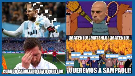 Messi y Caballero en la mira de los memes tras derrota de Argentina