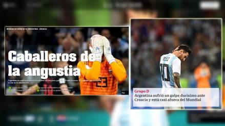 Argentina cayó 3-0 ante Croacia: medios argentinos destruyen a equipo de Sampaoli