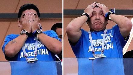 El llanto de Maradona tras la derrota de Argentina ante Croacia