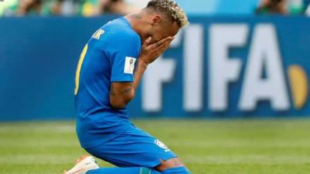 Las interpretaciones al llanto de Neymar al final del Brasil - Costa Rica