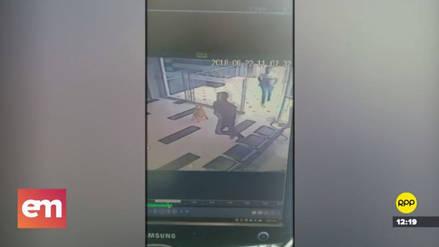 Cámaras de seguridad captaron la huida de los asaltantes de la joyería en el Jockey Plaza
