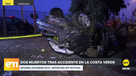 Un automóvil se desbarrancó en la Costa Verde: dos muertos y cuatro heridos