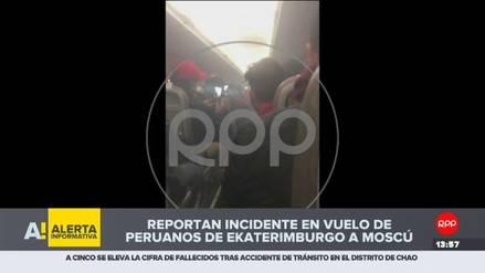 Turbina de avión que llevaba peruanos a Moscú se incendió minutos antes de aterrizar