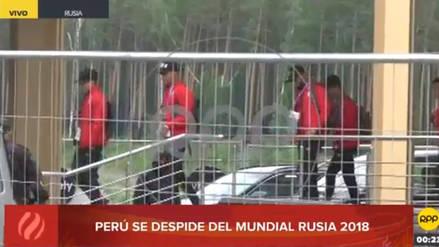 La Selección Peruana partió del hotel en Ekaterimburgo para dirigirse a Moscú