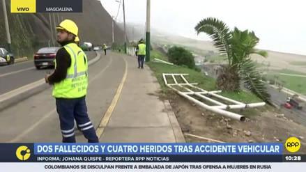 Así fue el fatal trayecto del automóvil que se desbarrancó en la Costa Verde