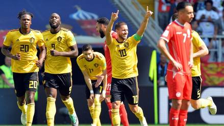 Bélgica venció por 5-2 a Túnez y clasificó a octavos de final de Rusia 2018