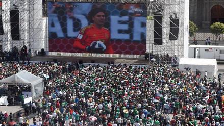 Más de 70 mil mexicanos vieron el partido contra Corea del Sur en El Zócalo