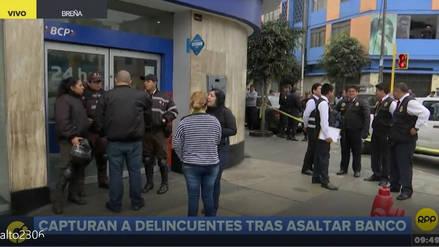 Video | Así fue la captura de los asaltantes del BCP de Breña