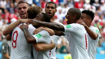 Inglaterra igualó su cantidad de goles en los dos últimos Mundiales en un tiempo