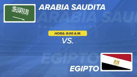 Arabia Saudita vs Egipto EN VIVO EN DIRECTO ONLINE: Fecha, horarios y alineaciones probables