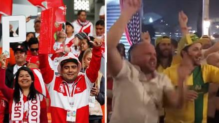 Australianos y alemanes alentaron a la Selección Peruana en Rusia 2018