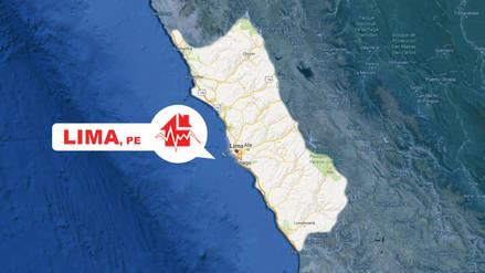 Un leve sismo de magnitud 3.8 se sintió esta madrugada en Lima