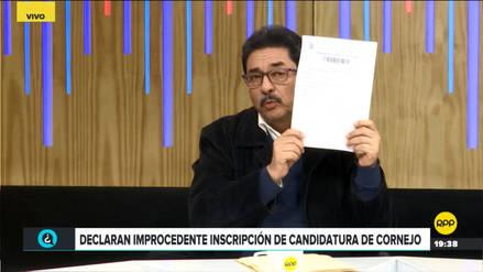 Enrique Cornejo presentó apelación ante el JNE para que admitan inscripción de su candidatura