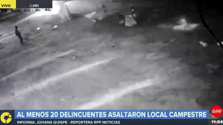 Al menos 20 delincuentes asaltaron local campestre en Lurín