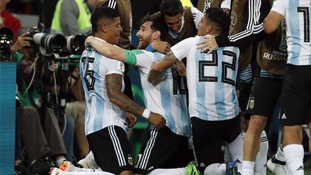 Argentina sufrió para vencer a Nigeria y se metió a octavos del Mundial