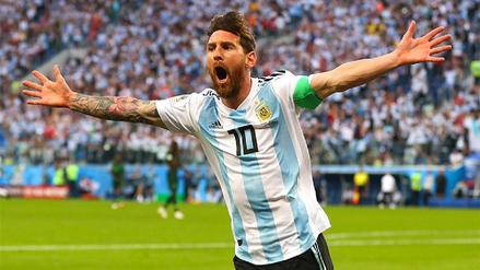 El golazo de Lionel Messi para abrir el marcador contra Nigeria