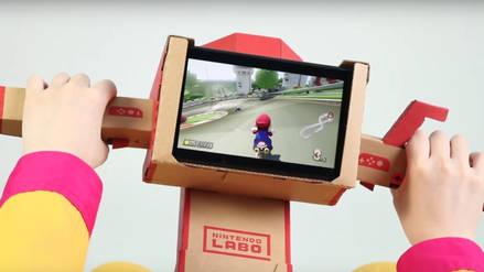 Ya puedes usar tu moto de Nintendo Labo con Mario Kart 8 Deluxe