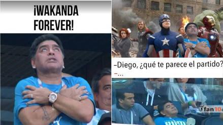 Maradona en la mira de los memes tras su eufórico festejo ante Nigeria