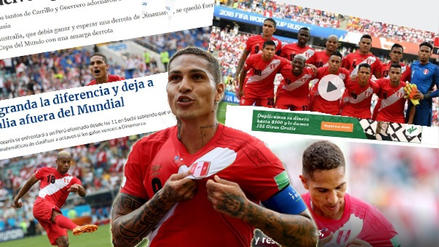 Así reaccionó la prensa mundial tras el triunfo de Perú ante Australia