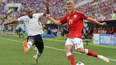 Dinamarca clasificó a octavos de final tras igualar sin goles con Francia