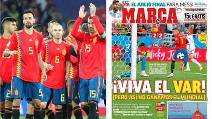 """""""¡Viva el VAR!"""": así informó la prensa de España sobre la clasificación de su selección a octavos"""
