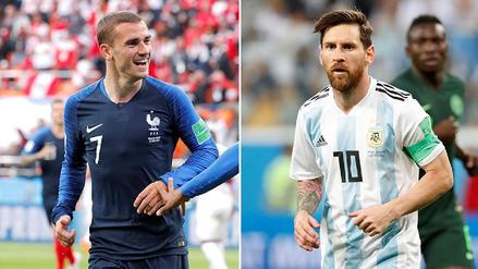 Lionel Messi y Antoine Griezmann, las figuras que lucharán por estar en cuartos de final del Mundial