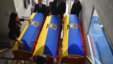 Cuerpos de periodistas asesinados por disidentes de las FARC son trasladados a Ecuador