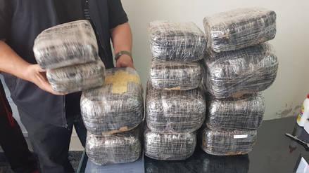 Policía incauta 25 kilos de marihuana en Arequipa