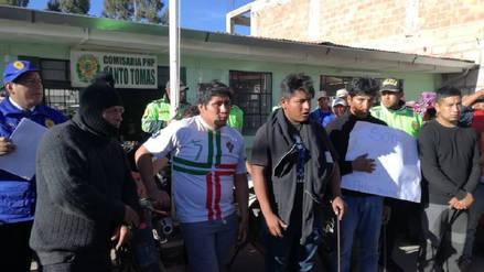 Agreden a personas tras confundirlas con invasores de terrenos en Chumbivilcas