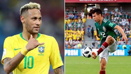 Neymar vs. Hirving Lozano, el duelo de referentes de ataque en el Brasil-México