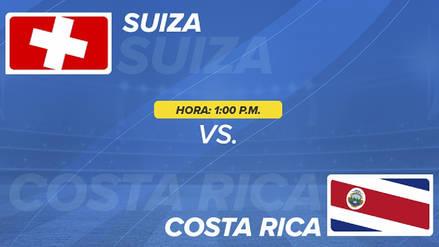 Suiza vs Costa Rica EN VIVO EN DIRECTO ONLINE: Canales, goles y minuto a minuto