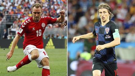 Luka Modrić vs Christian Eriksen, duelo de '10's en los octavos de final del Mundial