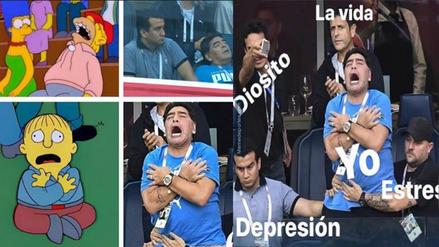Los mejores memes de Diego Maradona por sus gestos en el duelo de Argentina
