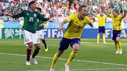 México clasificó con susto a octavos de final tras caer goleado ante Suecia